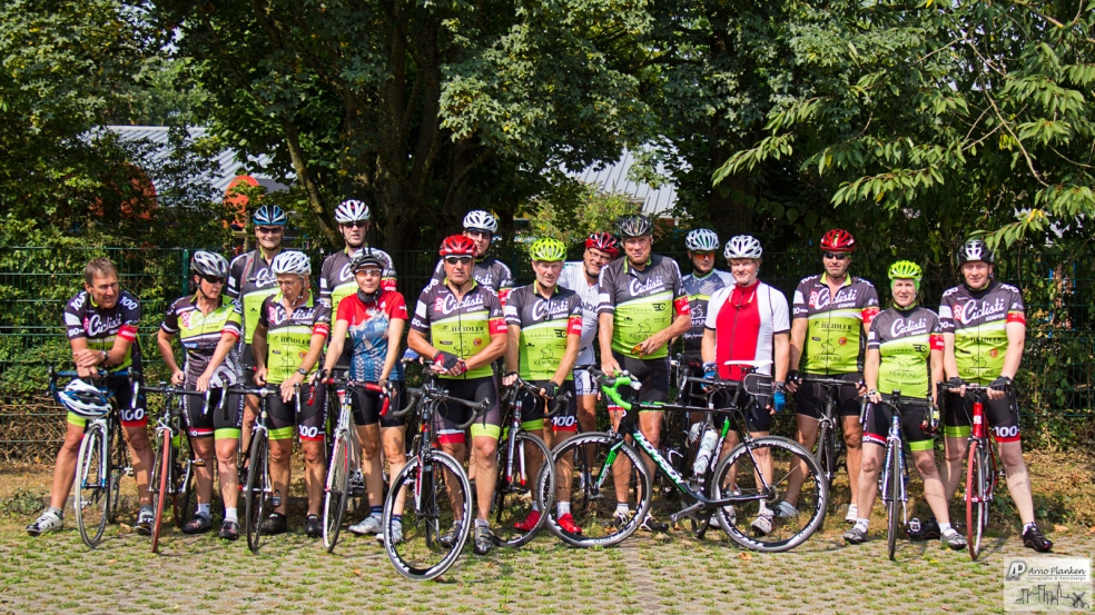 Ciclisti Gruppenfoto